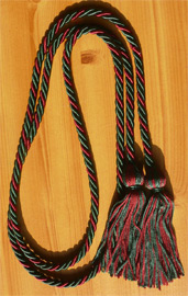 Dark Green & Maroon Intertwined Graduation Honor Cord