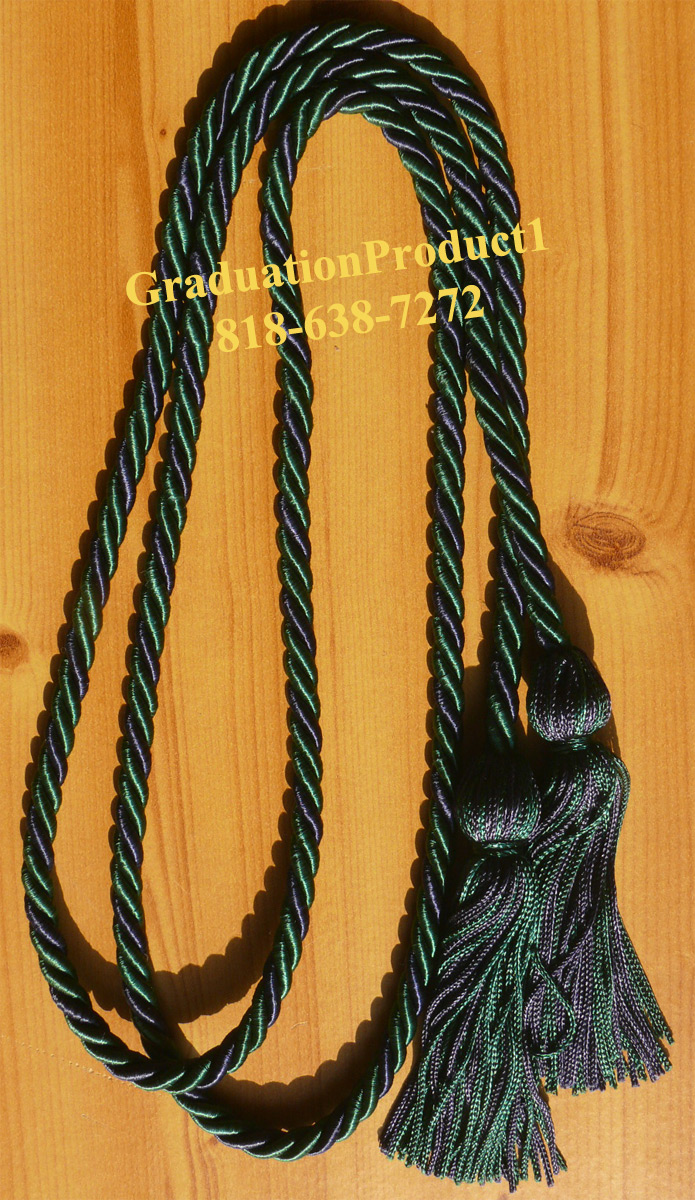 Dark Green And Navy Blue Honor Cords