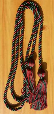 Hunter Green and Maroon Braided Graduation Honor Cord