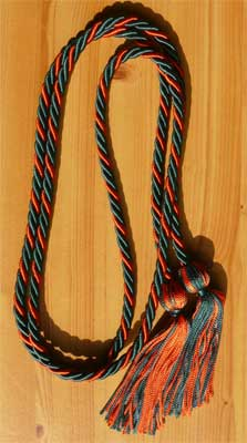 Hunter Green and Orange Intertwined Graduation Honor Cord
