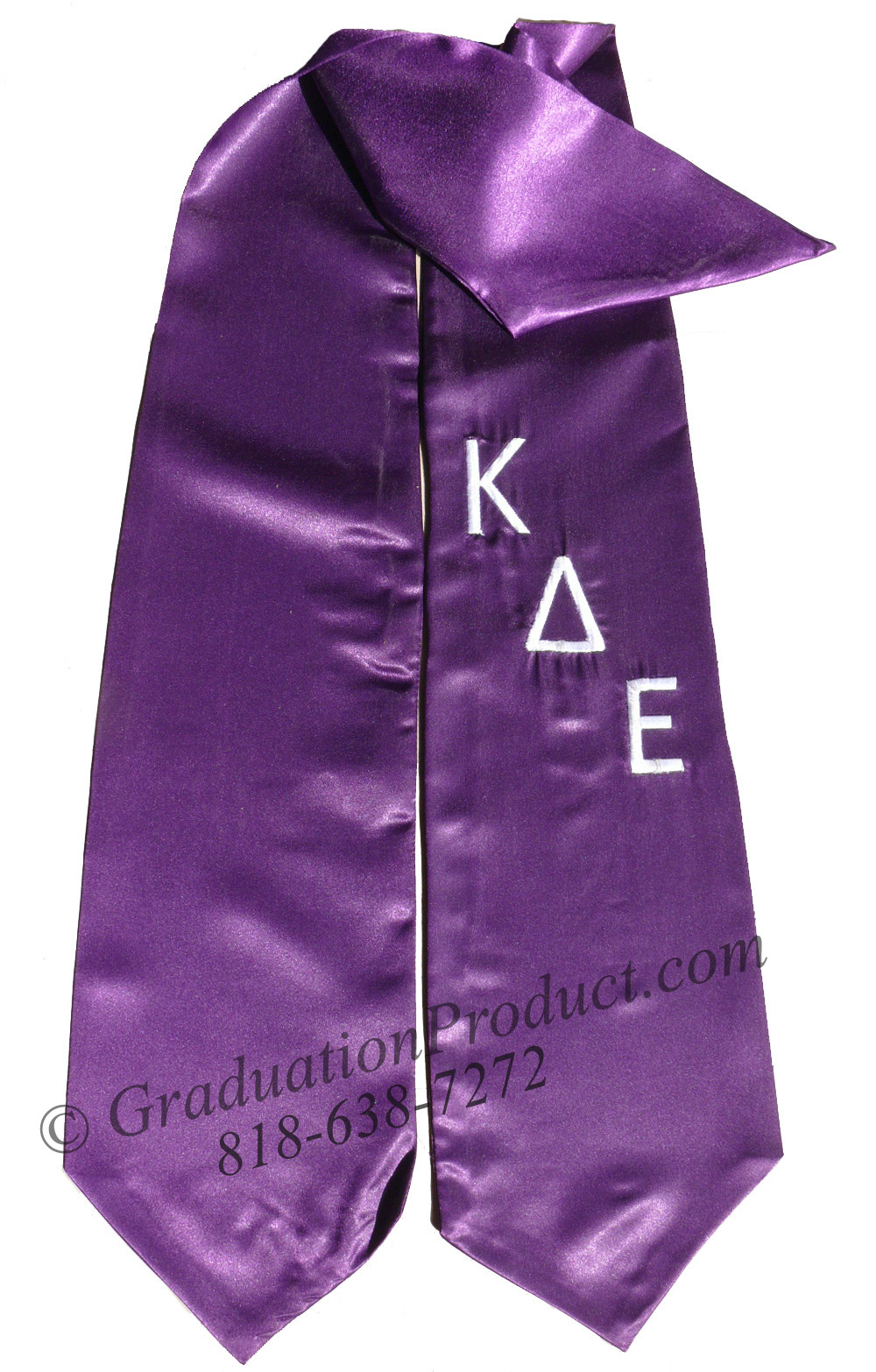 Kappa Delta Epsilon Greek Graduation Stole