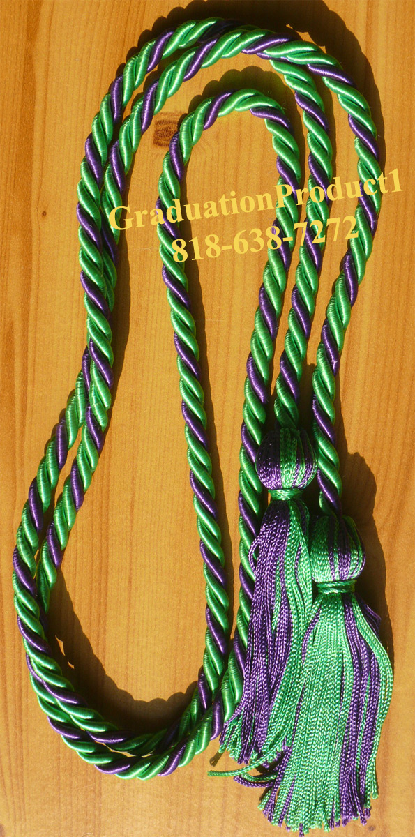 Kelly Green And Purple Honor Cords