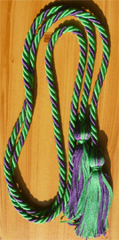 Kelly Green & Purple Intertwined Graduation Honor Cord