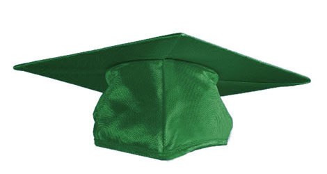 Kelly Green Graduation cap