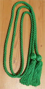 Kelly Green/Emerald Graduation Cords