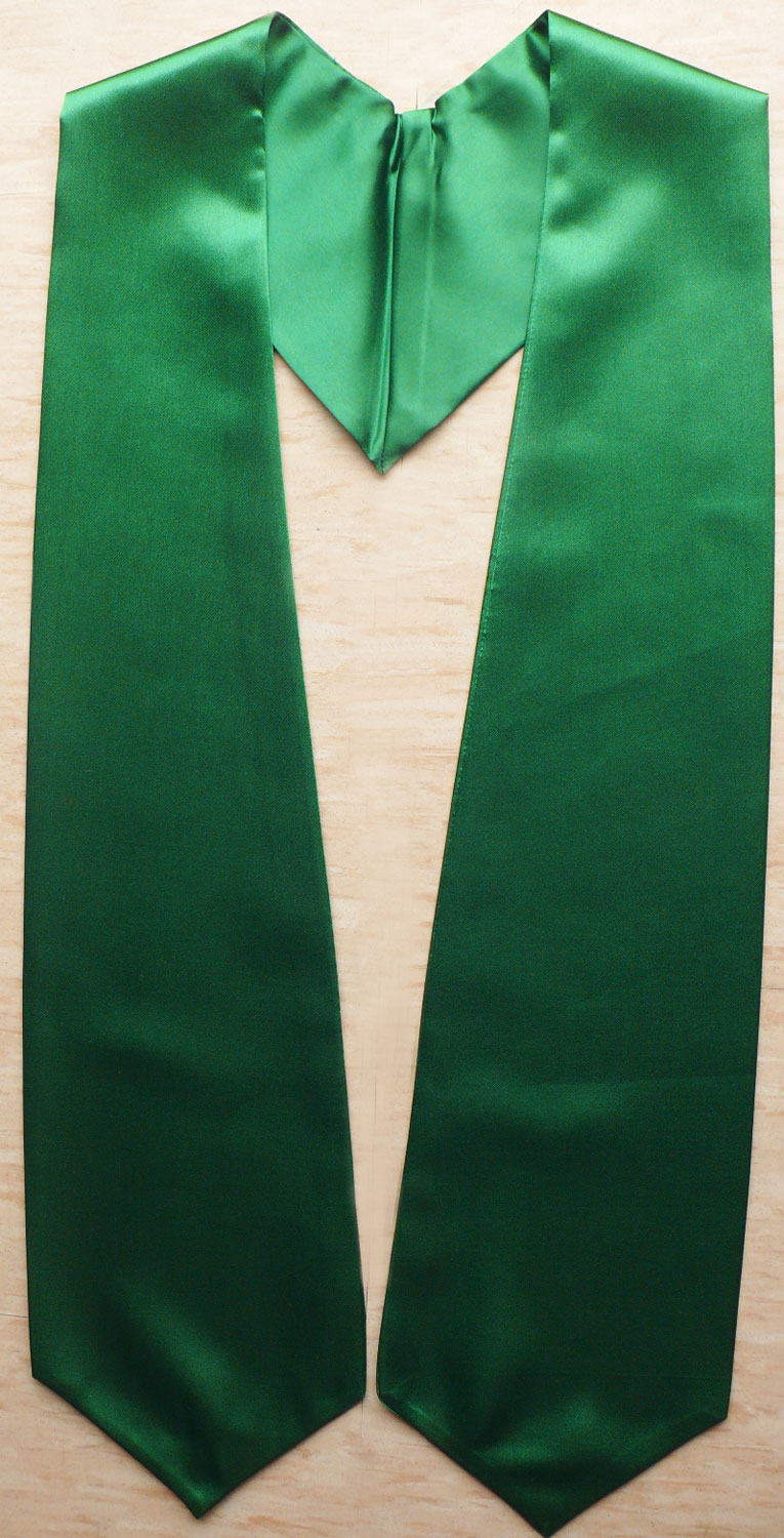 Kellygreen Plain Graduation Stoles