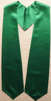 Kelly Green Graduation Stole