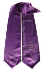 purple Two Side Embroidered Graduation Stole w/ 2 side Logo