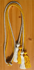 Light Blue and Gold Double Tied Honor Cords