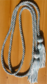 Light Blue & Silver Intertwined Graduation Honor Cord
