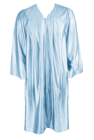 Light Blue Graduation  Gown