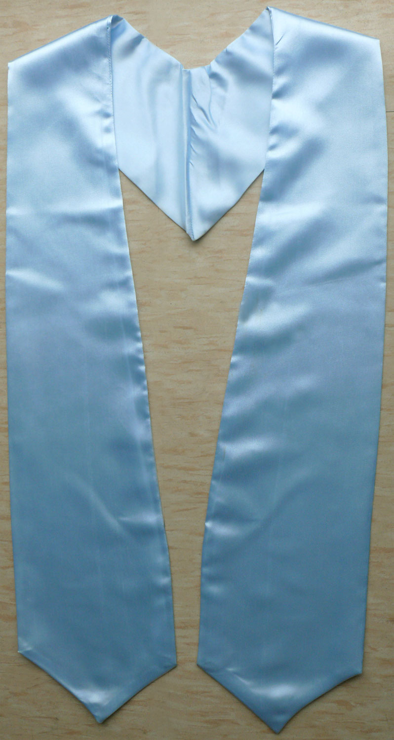 Light Blue Plain Graduation Stoles
