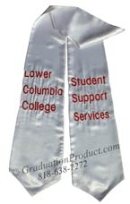 Lower Columbia College Student Support Services Graduation Stole
