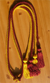 Maroon and Gold Double Tied Honor Cords