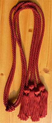 Maroon Double Tied Graduation Cords