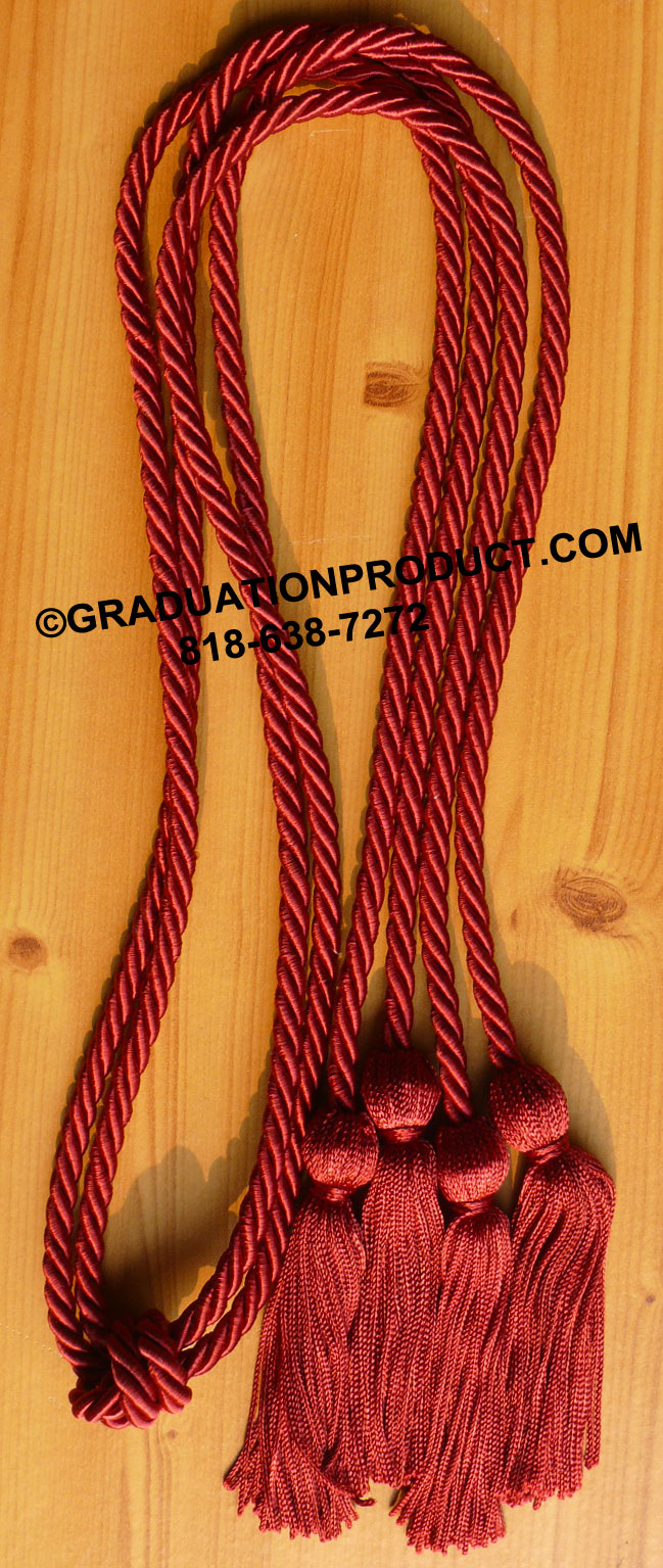 Maroon Double Graduation Honor Cord
