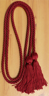 Maroon/Burgundy Graduation  Cords