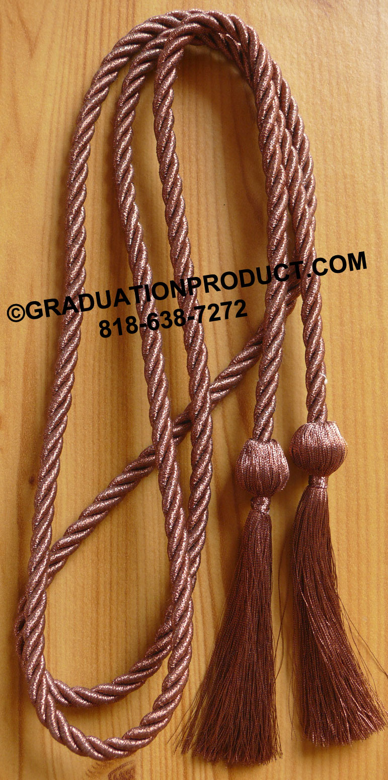 Metallic Copper Graduation Honor Cord