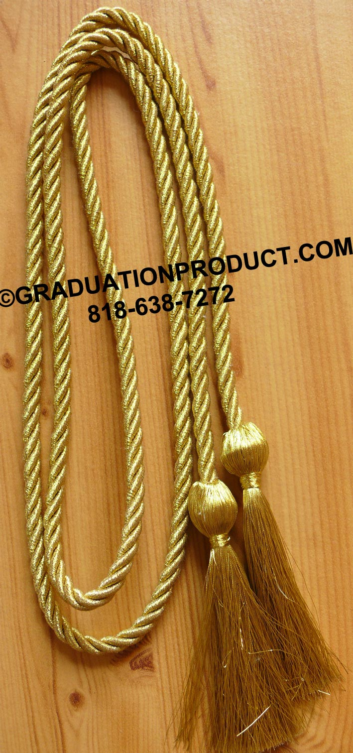 Metallic Gold Graduation Honor Cord