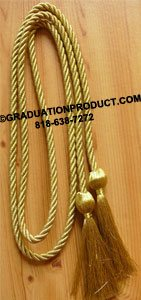 Metallic Gold Graduation Honor Cords