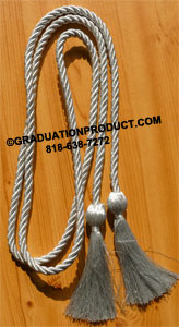 Metallic Silver Graduation Honor Cords