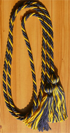 Navy Blue & Gold Intertwined Graduation Honor Cord