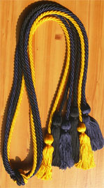 Navy Blue Black and Gold Triple Graduation Honor Cords