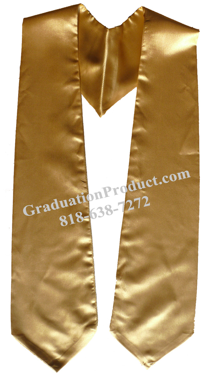 Old Gold Graduation Sashes