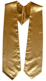 Old Gold Graduation Stole