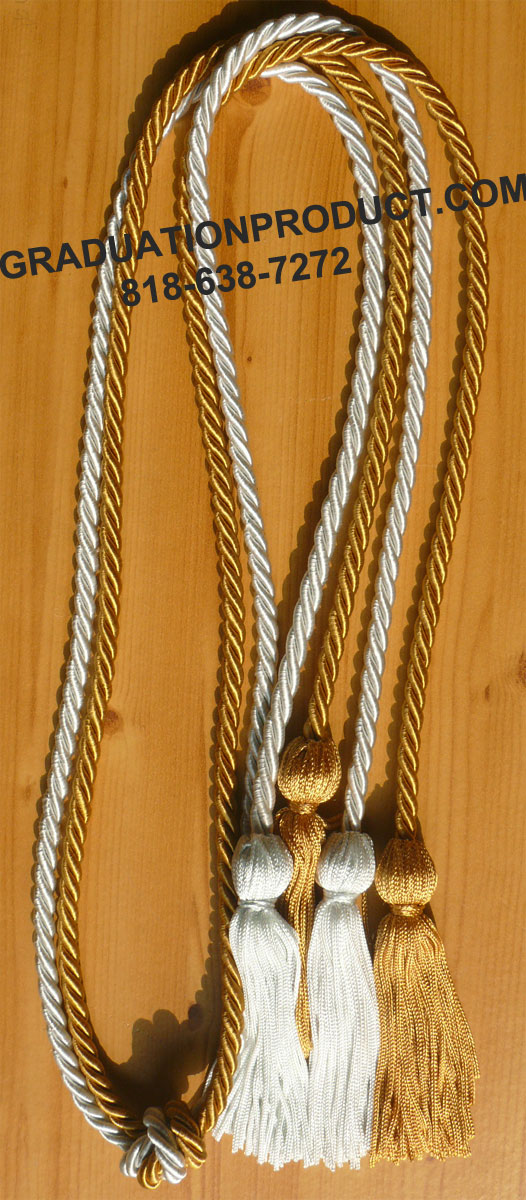 Old Gold And Light Blue Double Honor Cord