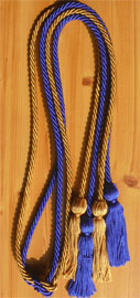 Old Gold and Royal Blue Double Tied Honor Cords