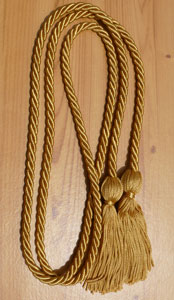 Old Gold Graduation Cords