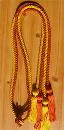 Orange and Gold Double Tied Honor Cords