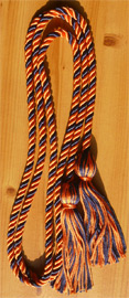 Orange & Navy Blue Intertwined Graduation Honor Cord