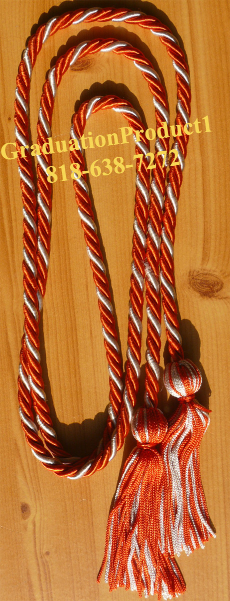 Orange And White Honor Cords