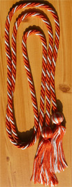 Orange & White Intertwined Graduation Honor Cord