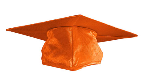Orange Graduation cap