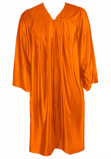 Orange Graduation  Gown