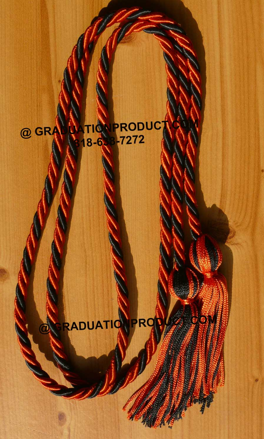 Orange Black Honor Cords
