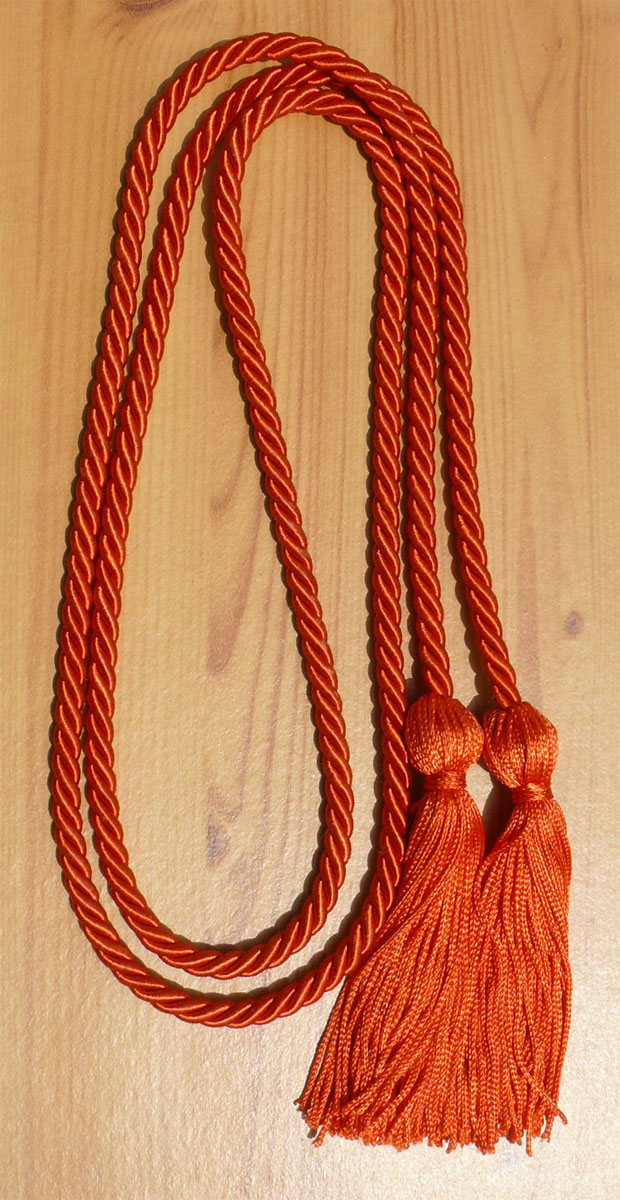 Orange Single Honor Cord