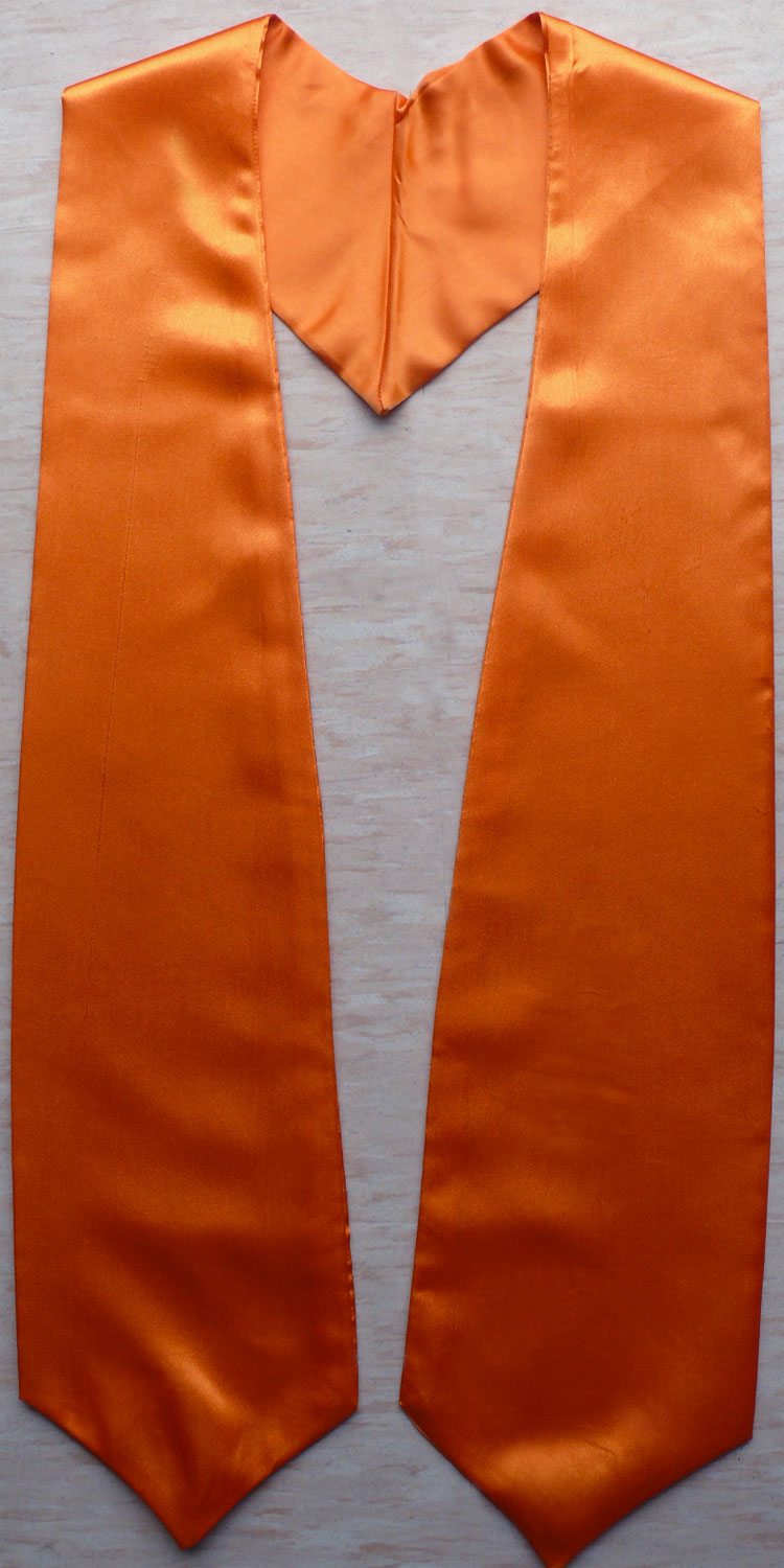 Orange Plain Graduation Stoles