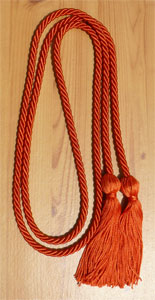 Orange graduation Cords