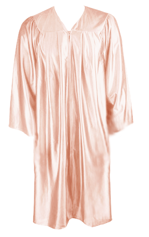 Peach Graduation  Gown