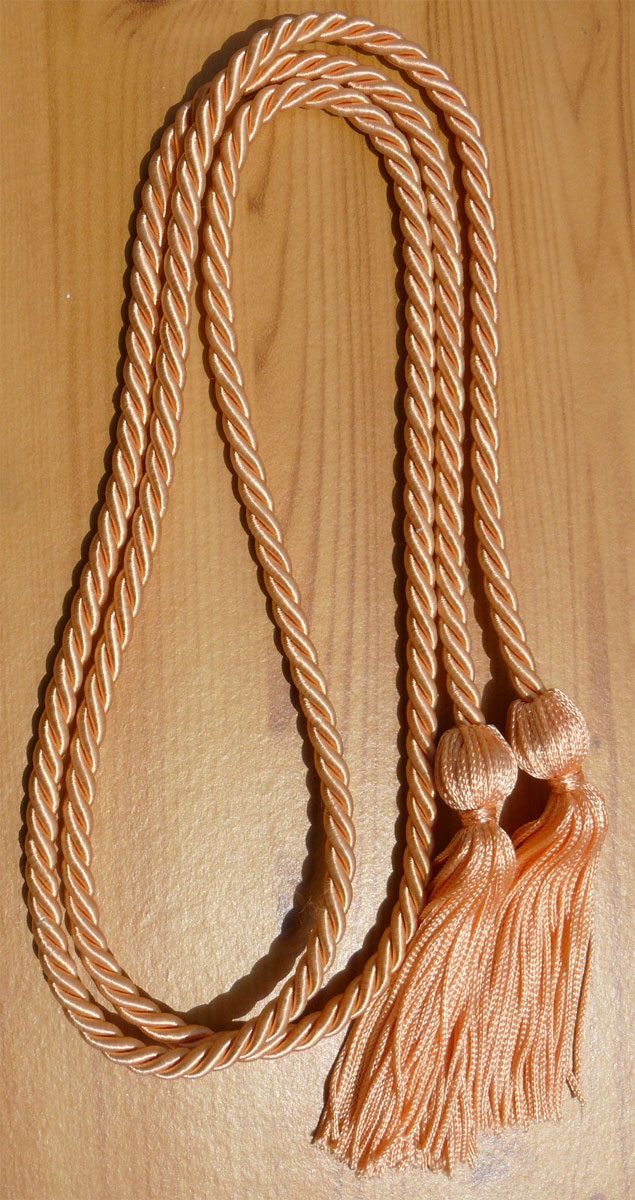 Peach Single Honor Cords
