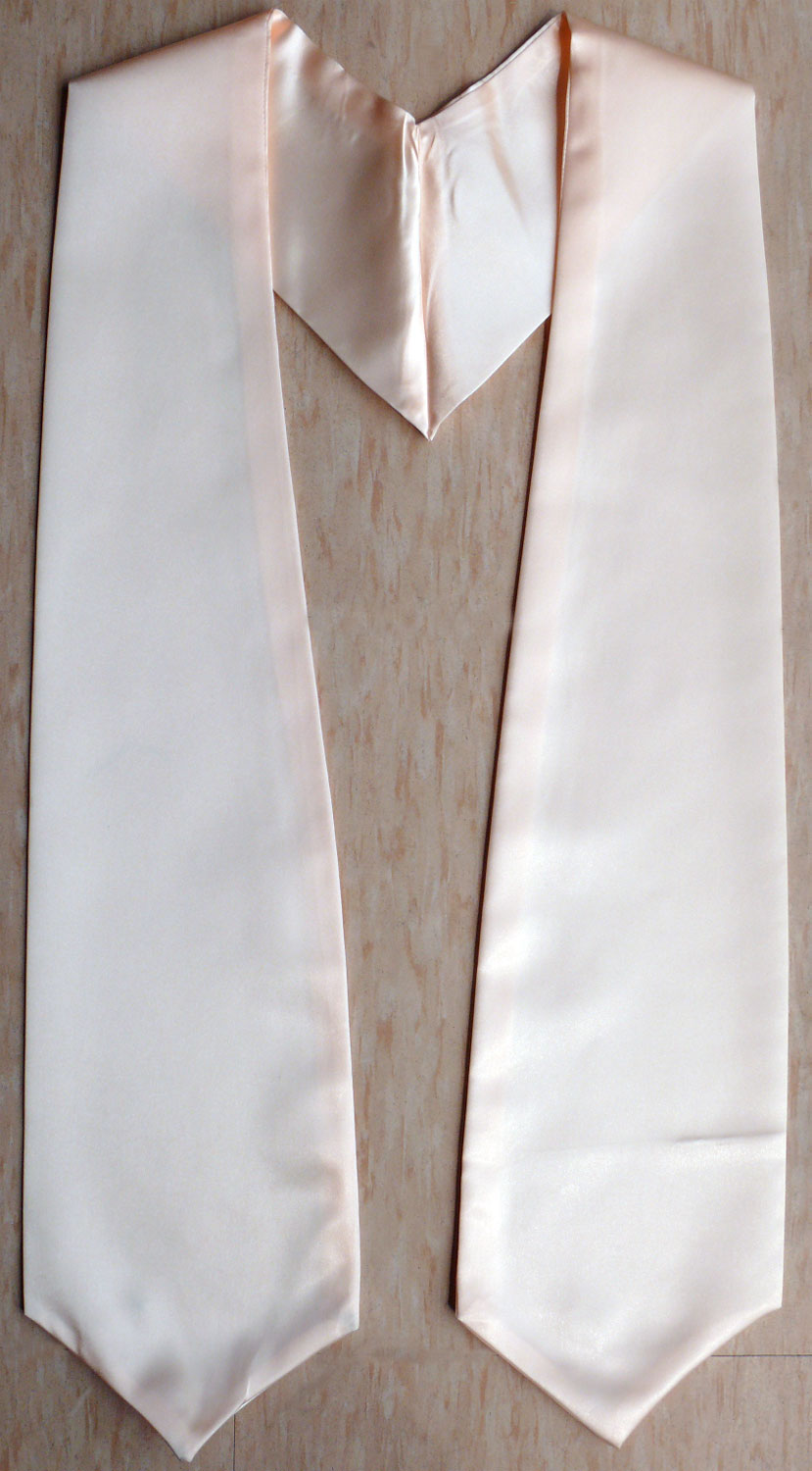 Peach Plain Graduation Stoles