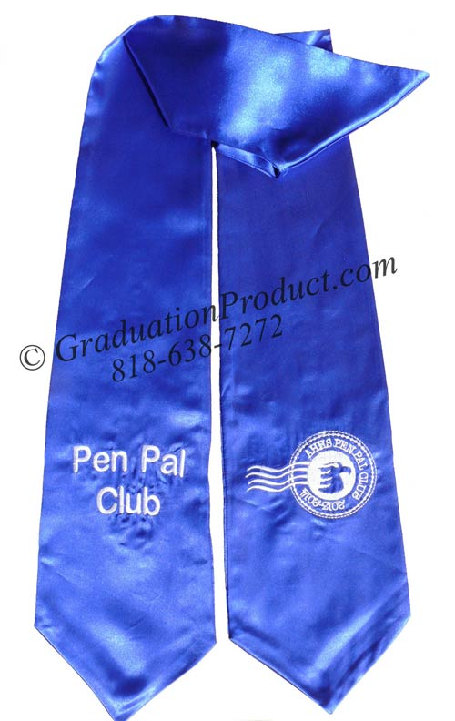 Pen Pal Club Ahhs Graduation Stole