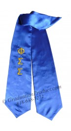 Phi Sigma Sigma Greek Graduation Stole