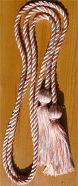 Light Pink & White Intertwined Graduation Honor Cord
