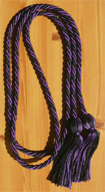 Purple and Black Braided Graduation Honor Cord