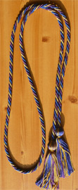 Purple Metallic Gold and Royal Blue  Intertwined Graduation Honor Cord